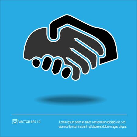 Partnership vector. Handshake icon eps 10. Hands shaking. Businessman deal agreement sign symbol. Stock Illustratie
