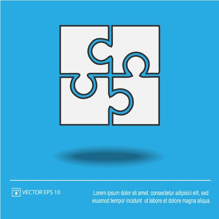 Puzzle vector icon. Vector illustration