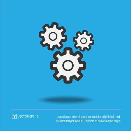 Gear vector icon eps 10. Gears isolated illustration.