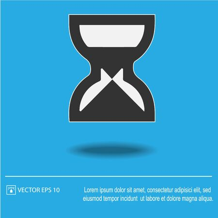 Sand clock vector icon.Isolated vector illustration.