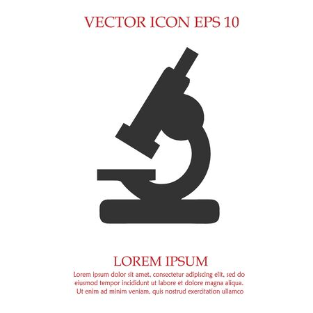 Microscope vector icon EPS 10. Lab simple isolated symbol.