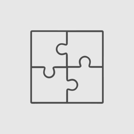 Puzzle icon. Business teamwork cooperation partnership vector illustration eps 10.
