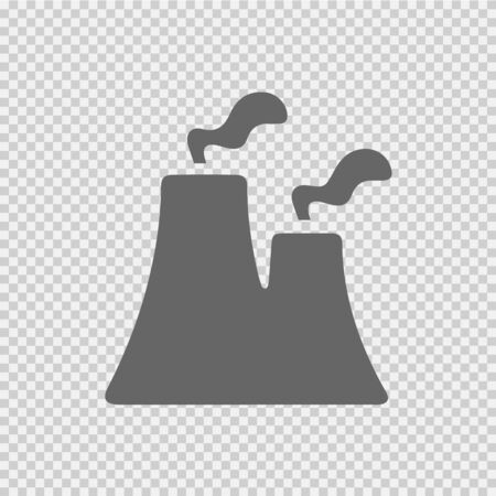 Nuclear power plant vector icon eps 10. Factory sign. Industry symbol.