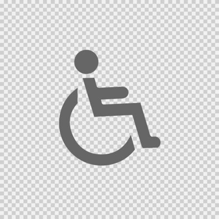 Wheelchair vector icon. Simple isolated illustration. 向量圖像
