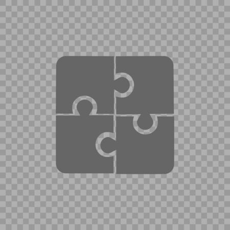 Puzzle vector icon eps 10. Creative group symbol. Cooperation. 向量圖像