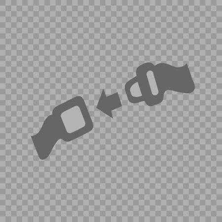 Seat belt vector icon eps 10. Car safety symbol.