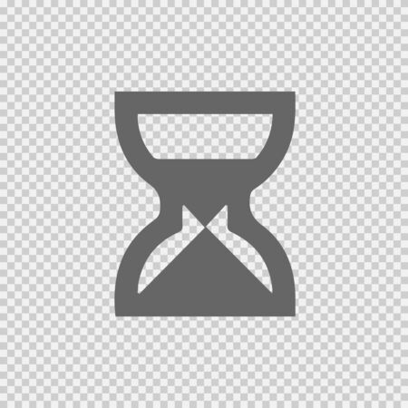 Sand clock vector icon.Isolated vector illustration EPS 10. Vectores