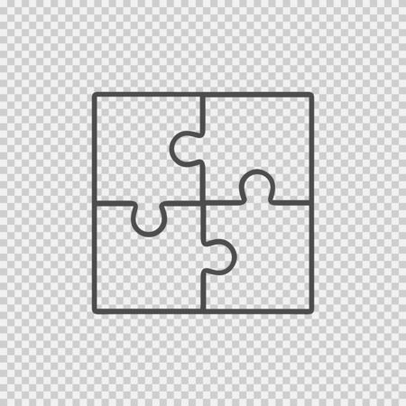Puzzle icon. Business teamwork cooperation partnership vector illustration eps 10. 向量圖像