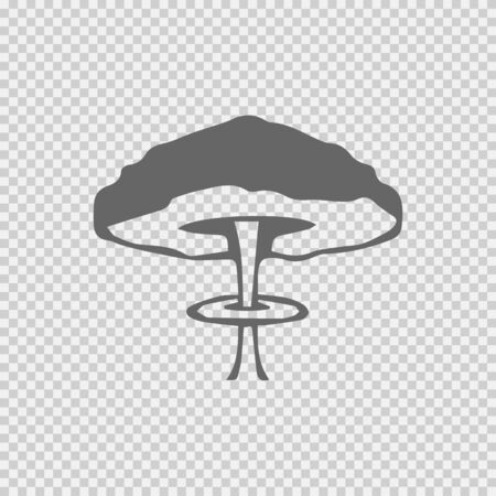 Mushroom cloud nuclear explosion vector icon. War symbol