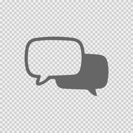 Two speech bubbles vector icon eps 10. Chat simple isolated symbol logo. Illustration