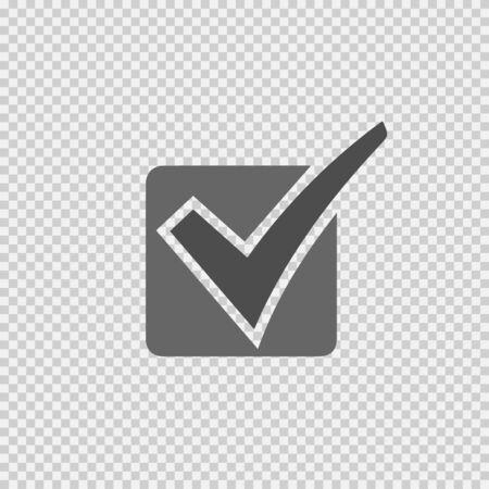 Check mark icon. Check mark vector. Check mark symbol. Isolated vector illustration. Yes symbol. Illustration