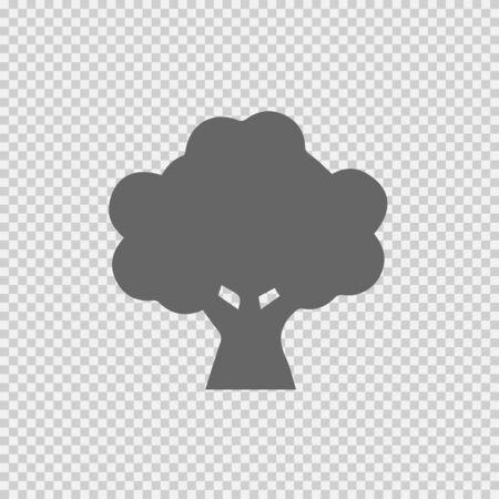 Oak logo vector icon. Tree simple silhouette symbol vector illustration. Oak icon. Tree icon. Oak vector. Tree vector.