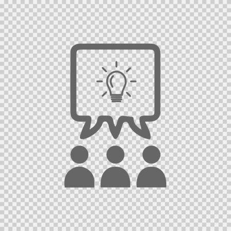 Teamwork vector icon. Business idea discussion logo. Business meeting vector icon. Business meeting icon. Business meeting vector. Illustration