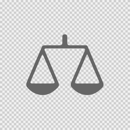 Law symbol vector icon. Weight icon. Weight simple isolated symbol logo. Law icon. Law symbol. Law vector. Weight vector.