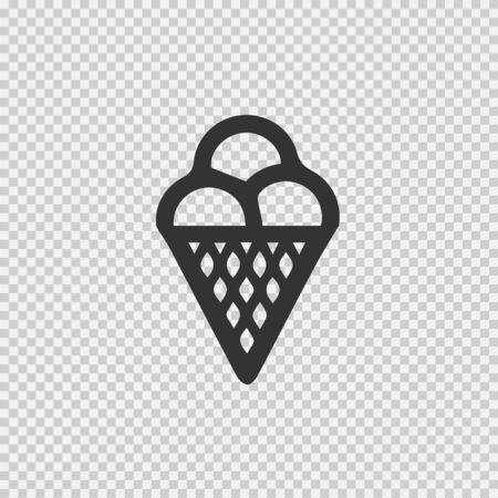 Ice cream vector icon EPS 10. Simple isolated summer symbol. Illustration