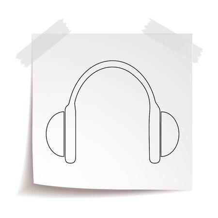 Headphones vector icon eps 10. Earphones simple isolated illustration.