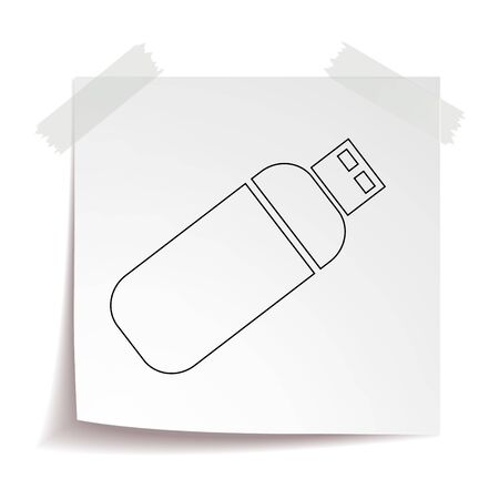 USB flash drive vector icon eps 10. Simple isolated illustration.