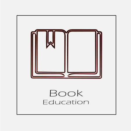 Book vector icon. Education simple isolated outline illustration.