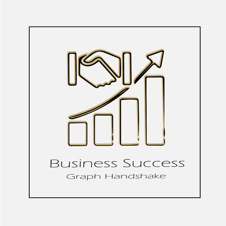 Business success concept vector icon eps 10. Simple isolated graph going up outline illustration.