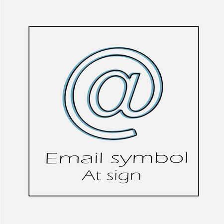 Email symbol vector icon eps 10. At sign simple isolated outline illustration.