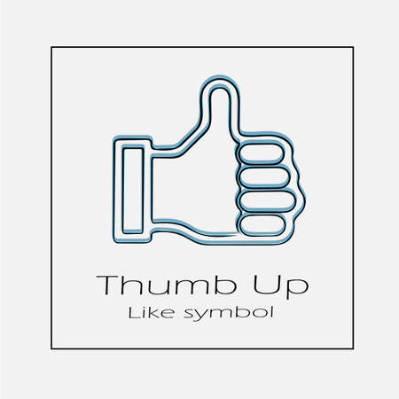 Thumb up vector icon. Simple isolated like symbol outline illustration.
