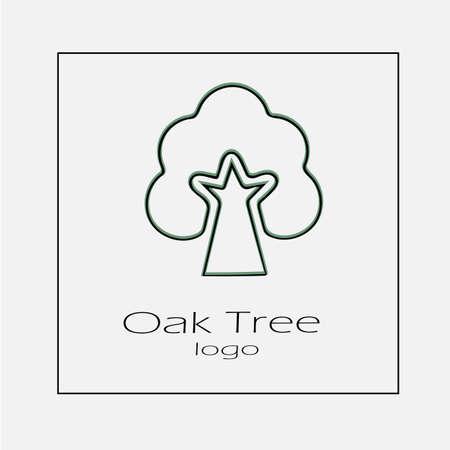 Oak logo vector icon. Tree simple silhouette symbol vector illustration. Illustration