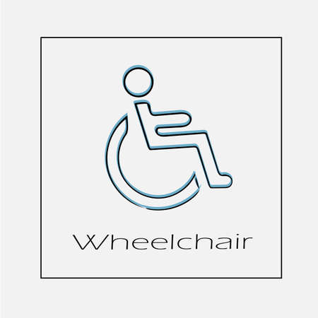 Wheelchair vector icon. Disabled handicap simple isolated illustration. Illustration