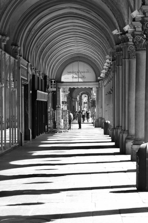 end of a long day: Shadows of bows in Torino town