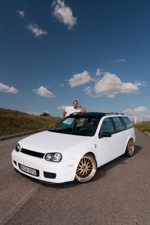 vw: Tuned VW Golf Variant with its owner Editorial