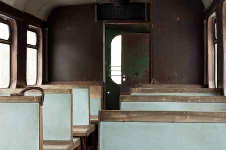 old passenger car view from inside