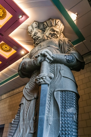 chan: One of the four heavenly kings at the Chung-tai Chan Monastery in Taiwan.