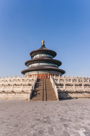 Temple of heaven in Peking on a clear winter day