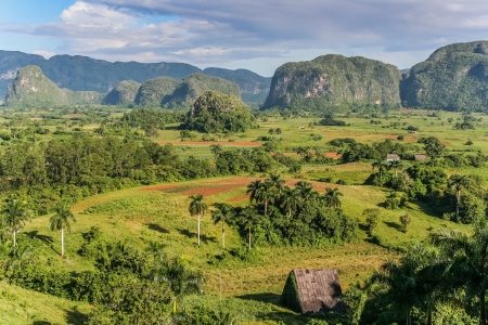 View of Valle de Vinales in the west of Cuba  photo