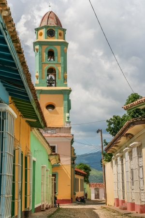 Bell tower in the center of colonial Trinidad, Cuba