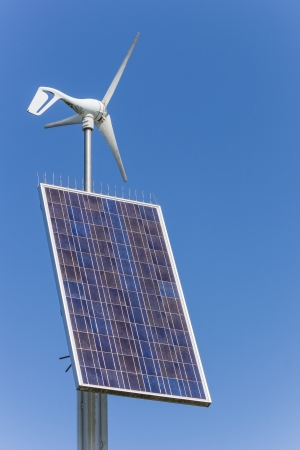 Small solar and wind energy combination unit photo