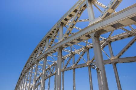 Steel bridge Waalbrug in Nijmegen, the Netherlands
