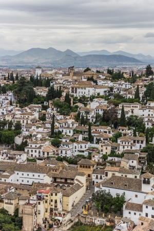 View of the historical city of Granada, Spain photo