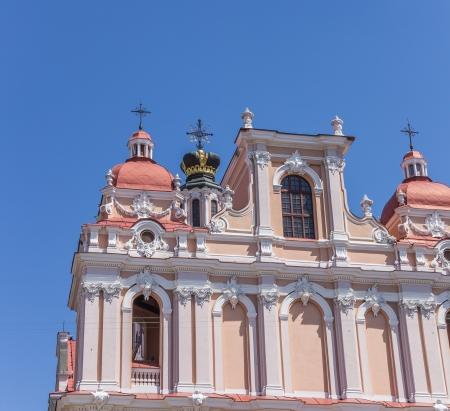 casimir: Detail of St  Casimir church in Vilnius, Lithuania Stock Photo