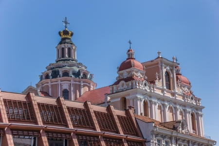 casimir: Top of St  Casimir church in Vilnius, Lithuania
