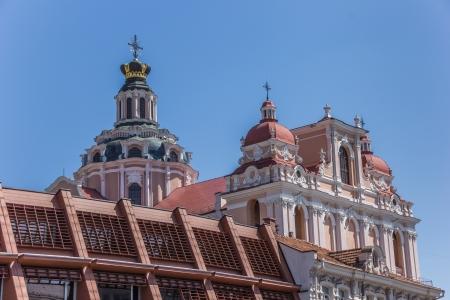 casimir: Top of St  Casimir church in Vilnius, Lithuania
