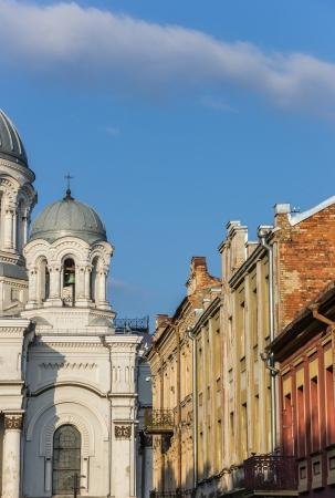 kaunas: Kaunas St  Michael the Archangel church and colorful old houses