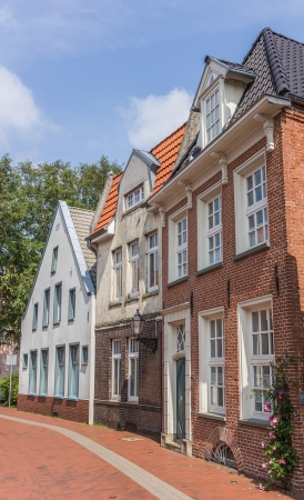 leer: Old houses in the historic center of Leer, Germany Editorial