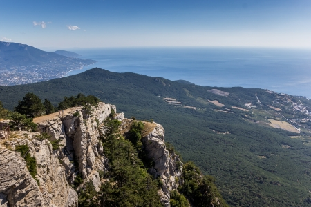 View from mountain Ai Petri near Yalta, Ukraine photo