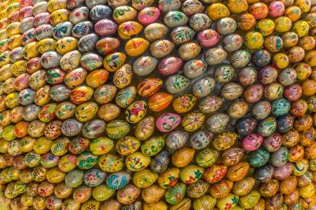 Multicolored easter eggs of the Kiev Pechersk Lavra, Ukraine