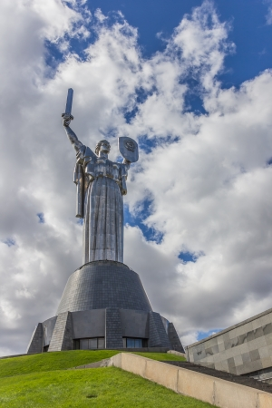 Mother Russia on a hill top in Kiev, Ukraine