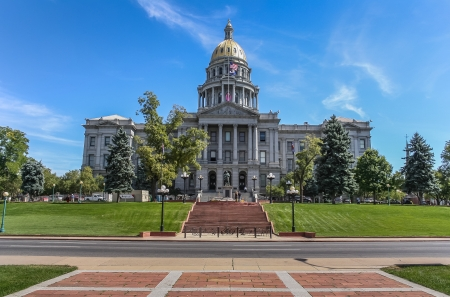 Colorado state capitol in the center of Denver, USA photo