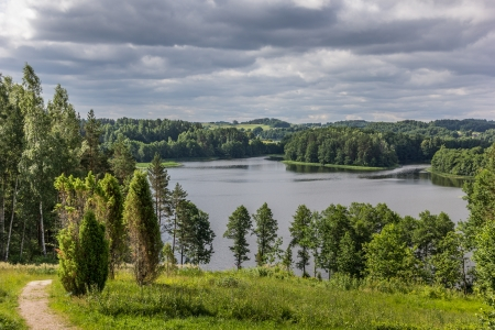 Viewpoint in Aukstaitija National Park in Lithuania