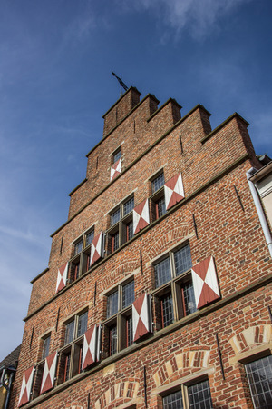 house gable: Traditional gable of an old house in Xanten, Germany Stock Photo