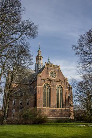 groningen: Nieuwe Kerk in het centrum van Groningen, Nederland