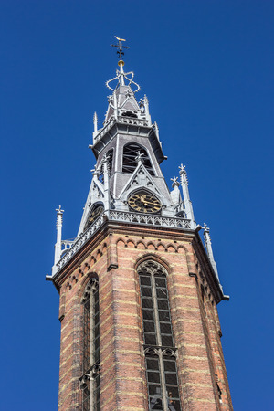 Spire of the Jozef Cathedral in Groningen, Netherlands Imagens